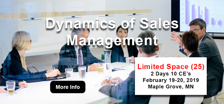 Dynamics of Sales Management (2 Day) - 10 CE's